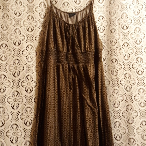 Faded Glory Dresses & Skirts - FADED GLORY BROWN LONGER MIDI DRESS